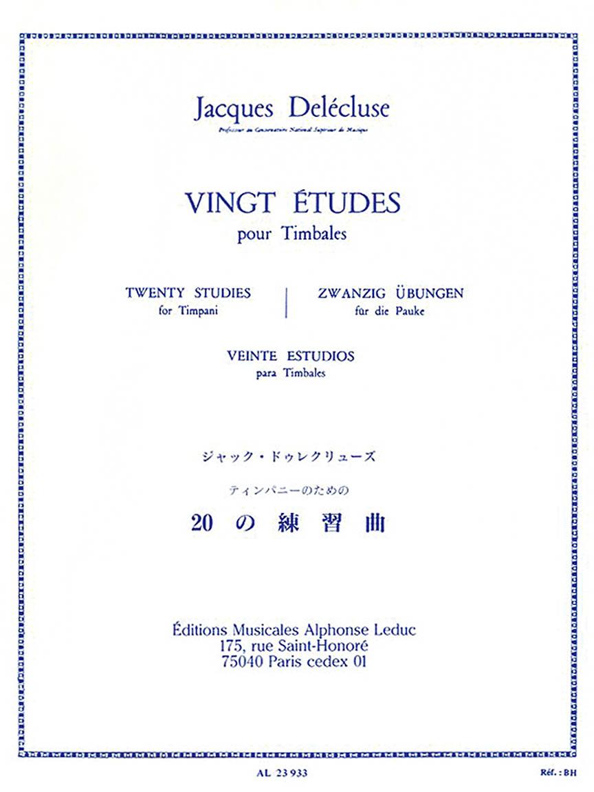 Product Cover for Vingt Études pour Timbales