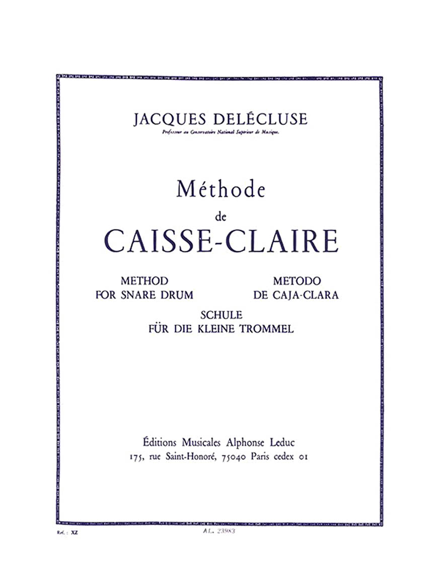 Product Cover for Methode De Caisse-Claire