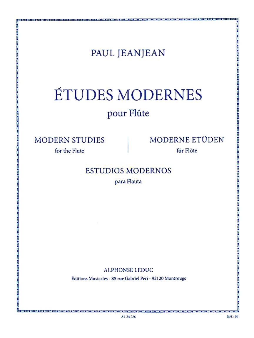 Product Cover for Études Modernes Pour Flute
