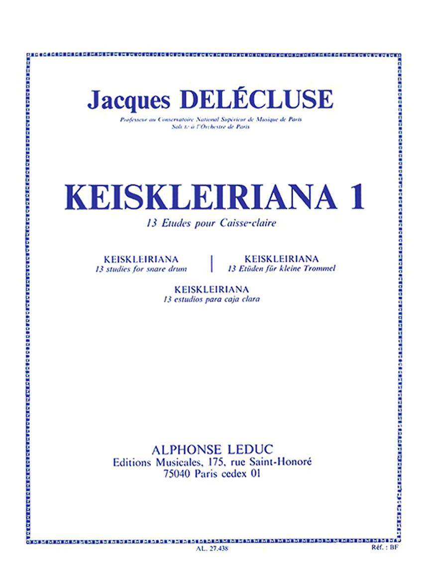 Kreisleriana 1 – 13 Etudes Pour Caisse-Claire