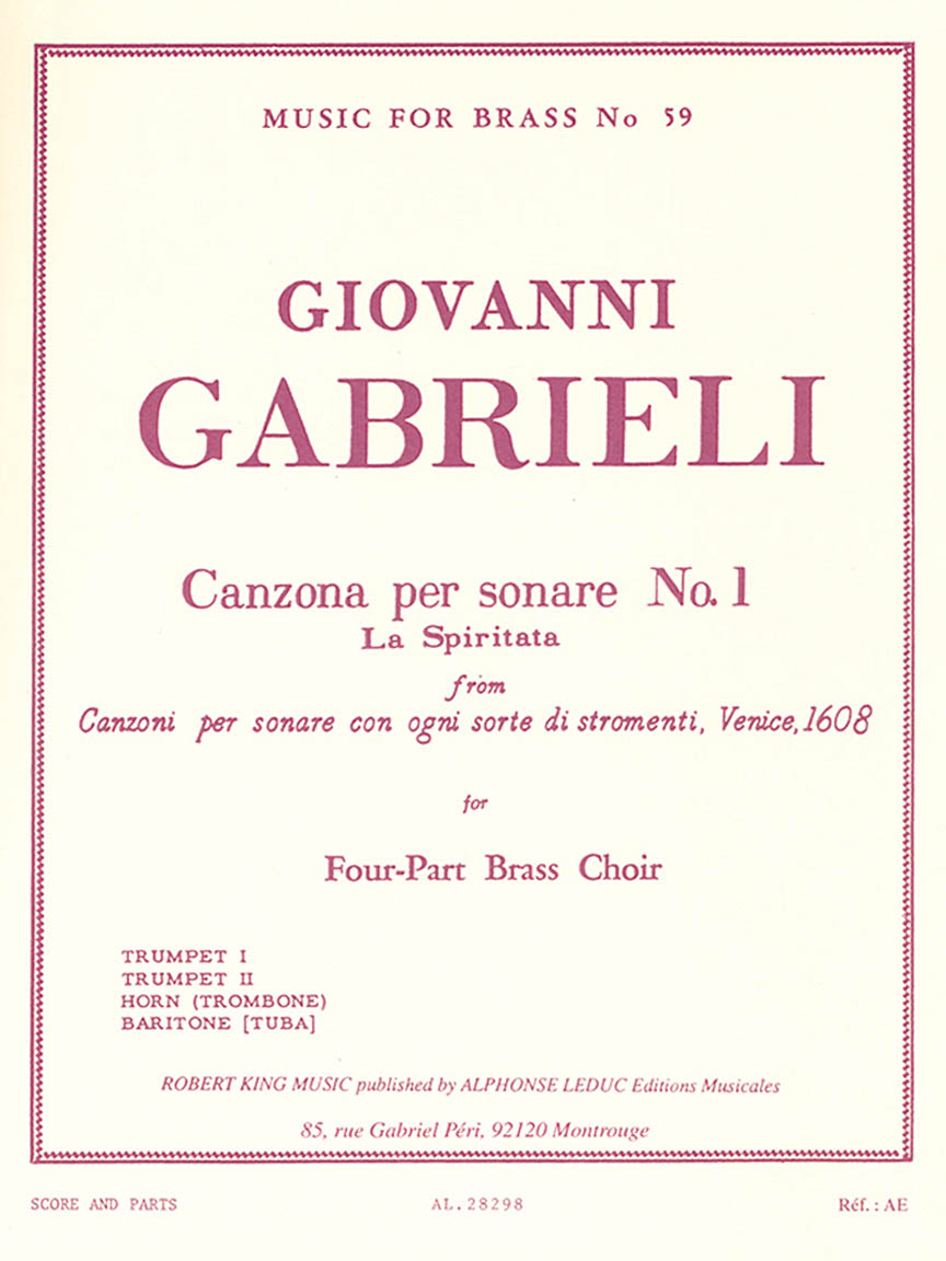 Product Cover for Canzona Per Sonare No. 1, For Four-part Brass Choir