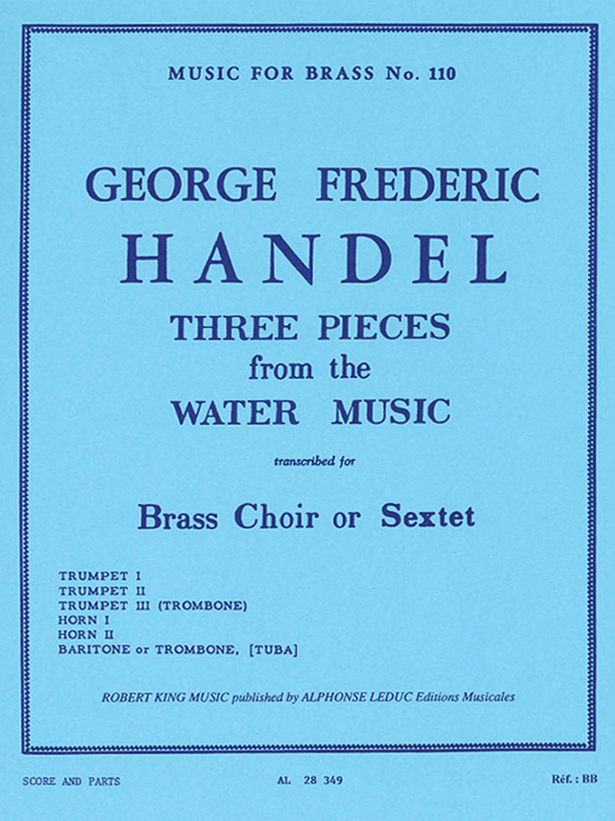 Product Cover for 3 Pieces From The Water Music, Transcribed For Brass Choir Or Sextet By Ro