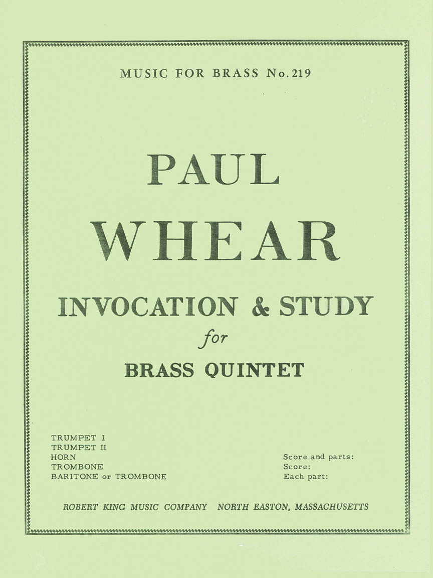 Product Cover for Invocation And Study (quintet-brass)