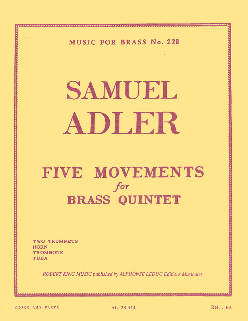 Product Cover for 5 Mouvements (quintet-brass)