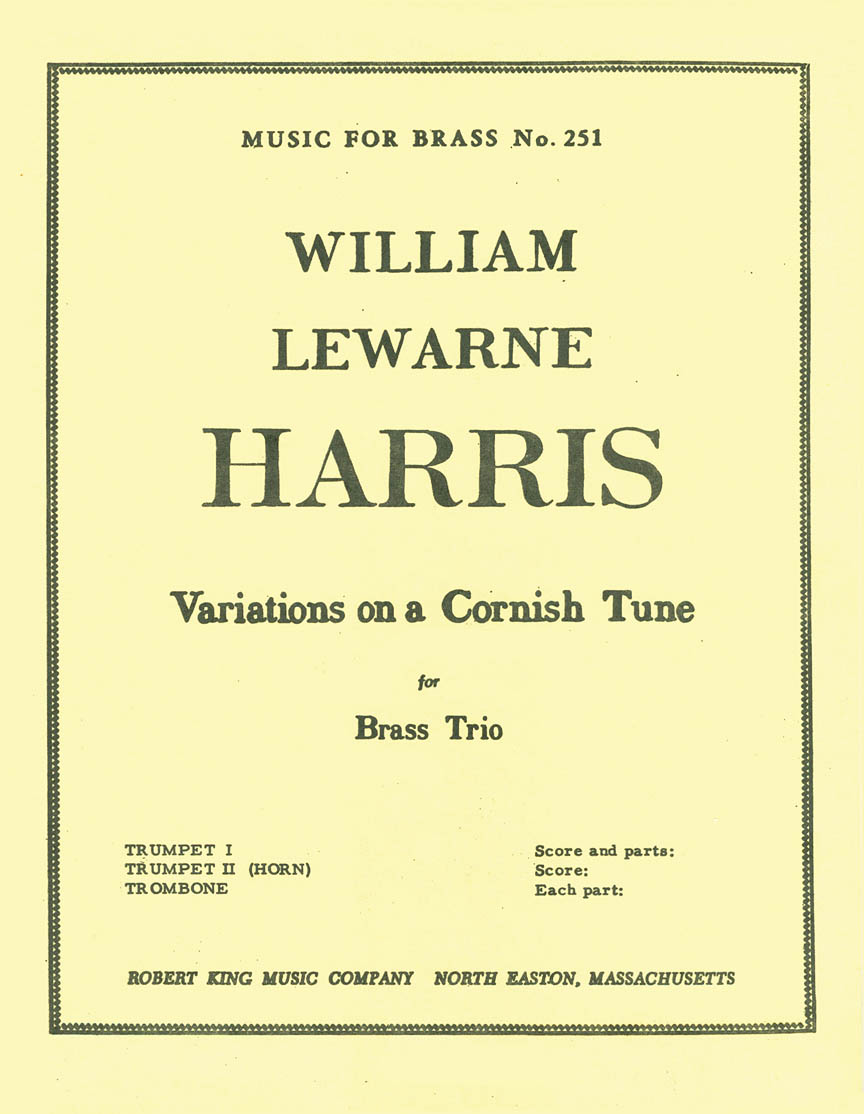 Product Cover for Variations On A Cornish Tune (brass Trio)
