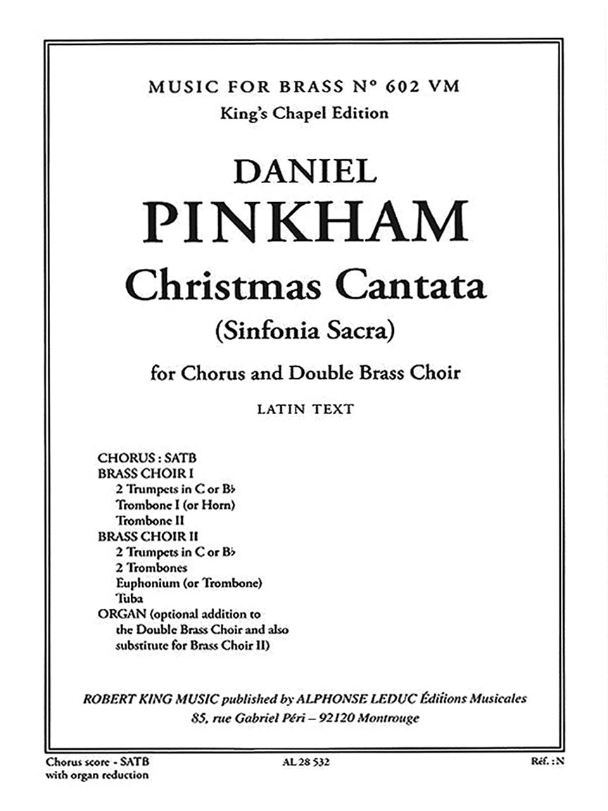 Product Cover for Christmas Cantata (Sinfonia Sacra)
