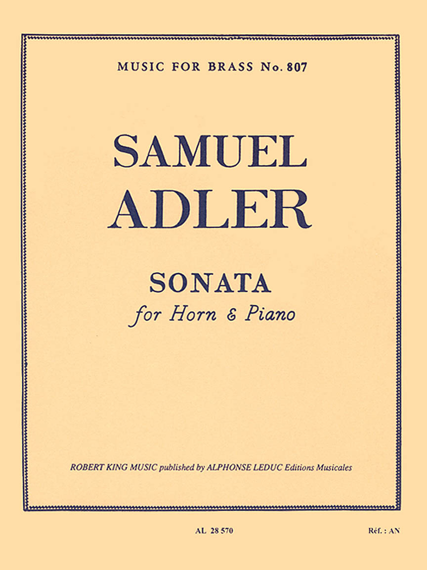 Product Cover for Sonata (horn And Piano)