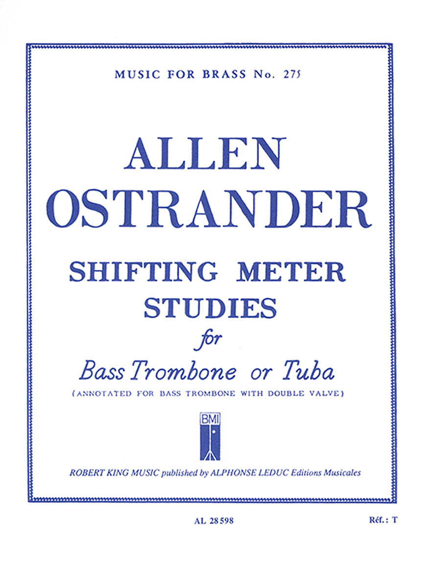 Product Cover for Shifting Meter Studies (trombone-bass Solo)