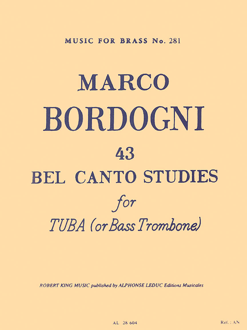 Product Cover for 43 Bel Canto Studies for Tuba or Bass Trombone