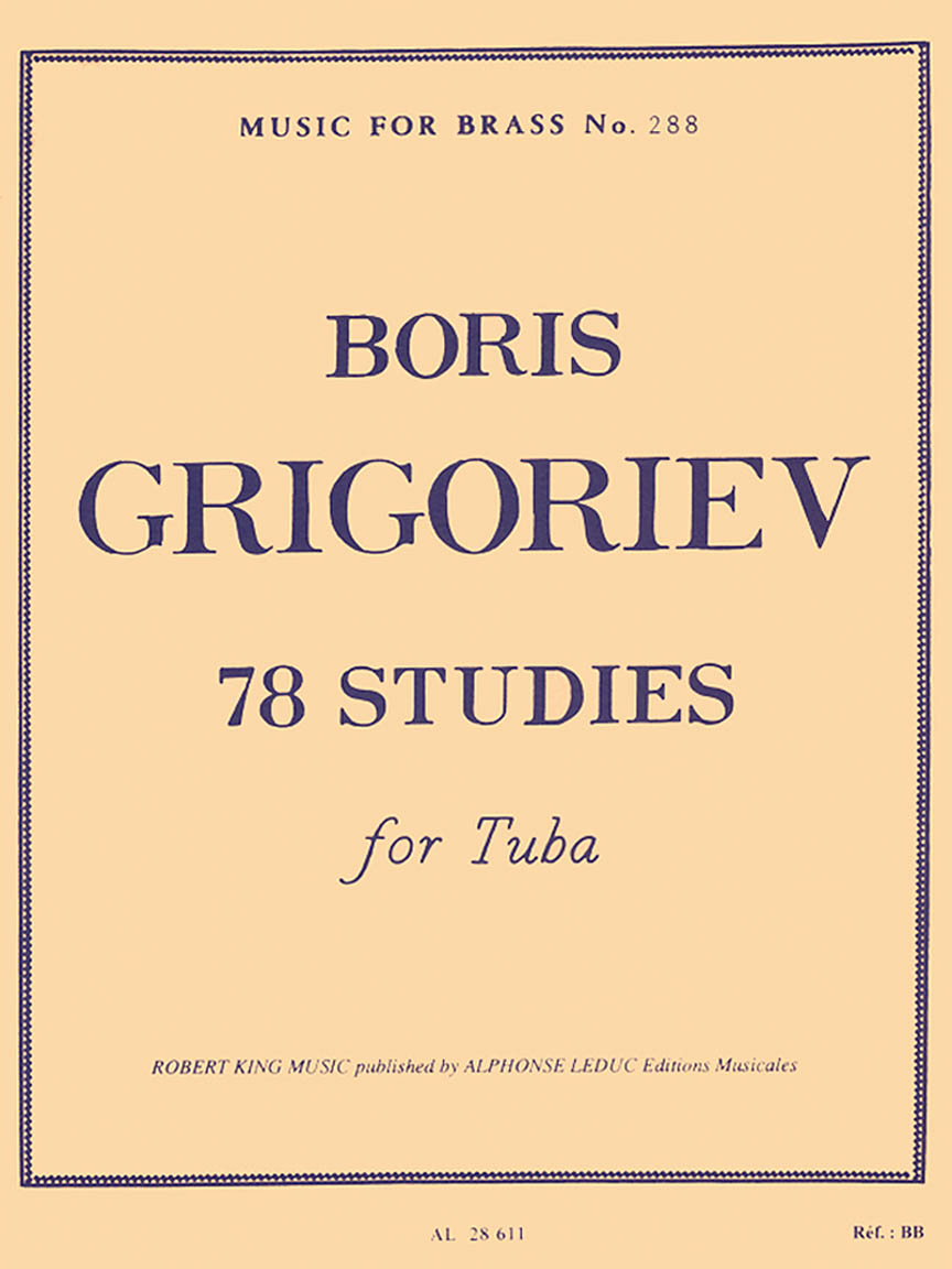 Product Cover for 78 Studies for Tuba