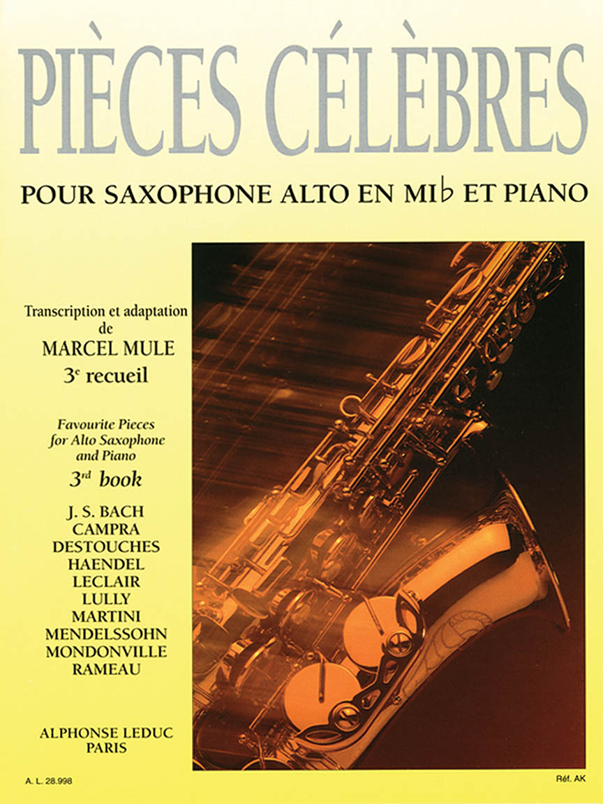 Product Cover for Pieces Celebres Vol.3 (saxophone-alto & Piano)