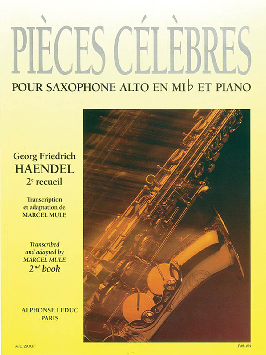 Product Cover for Famous Pieces By G. F. Handel For Eb Alto Saxophone And Piano  Vol. 2 (al