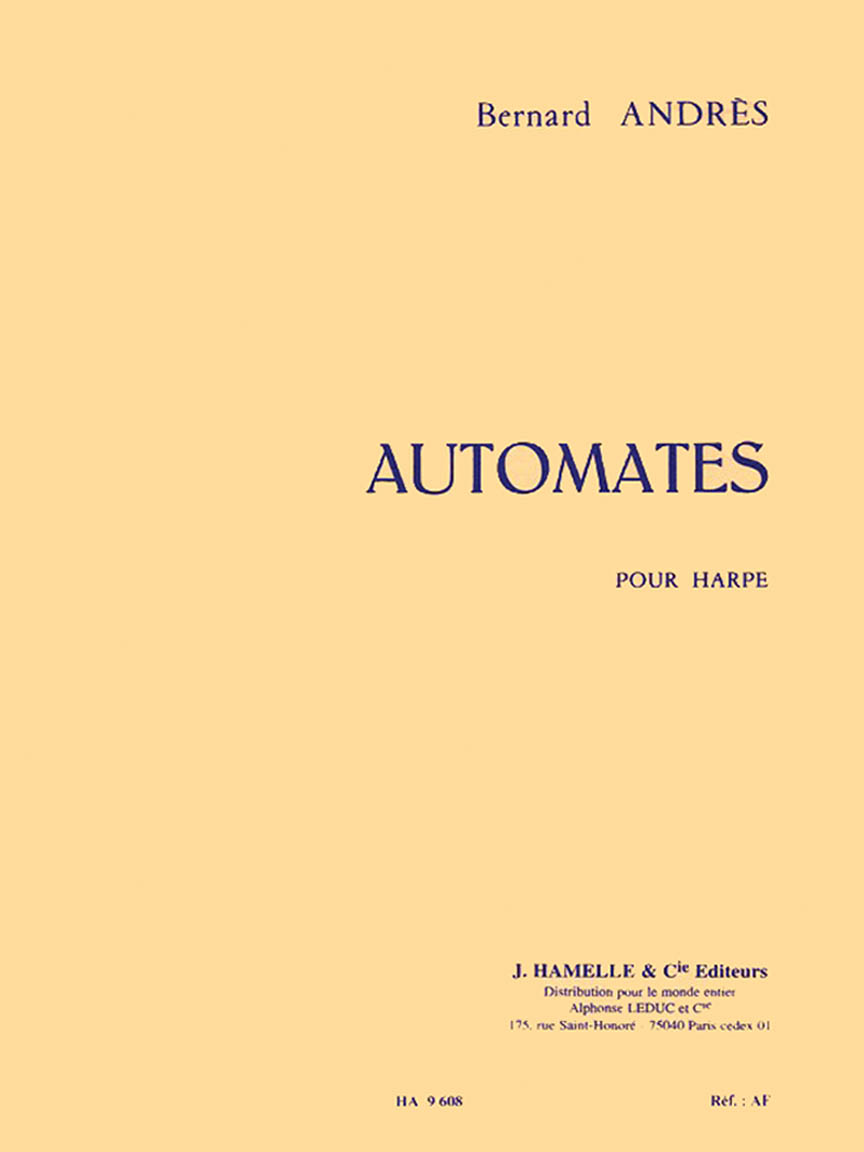 Product Cover for Automates Pour Harpe