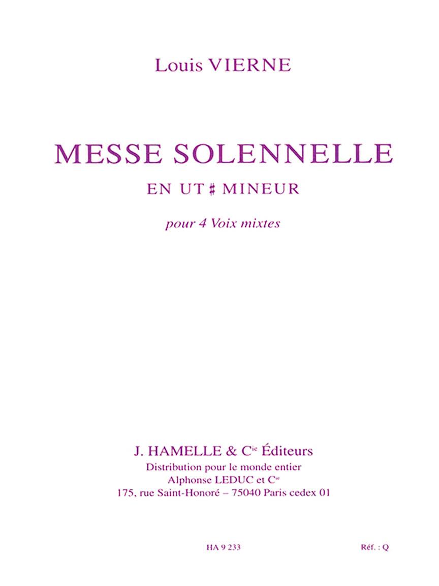 Messe Solennelle Ut Diese Min. Partie De Choeur Sans Accompagnement
