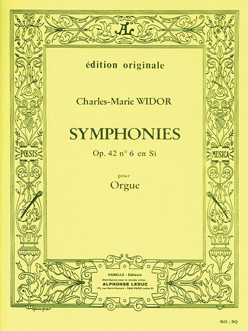 Product Cover for Widor Symphonie No6 Op42 Organ Book