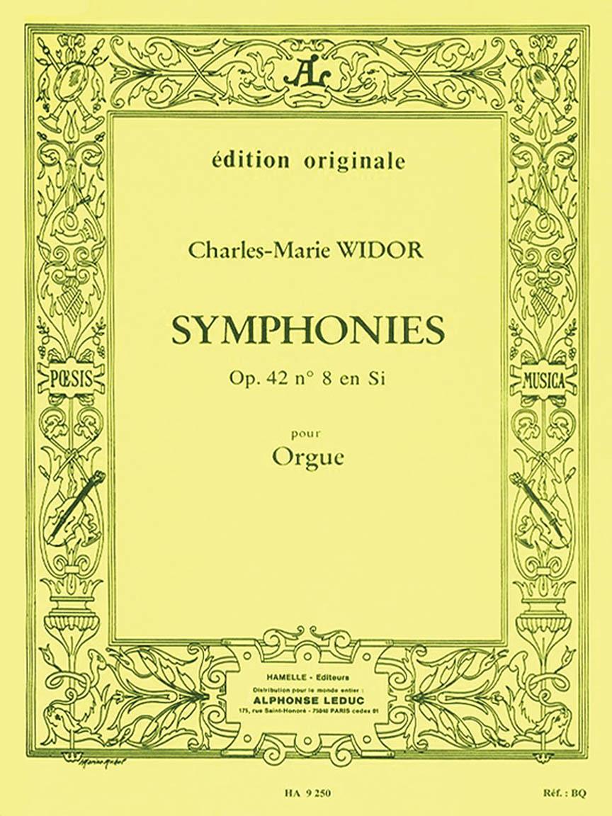 Product Cover for Widor Symphonie No8 Op42 Organ Book