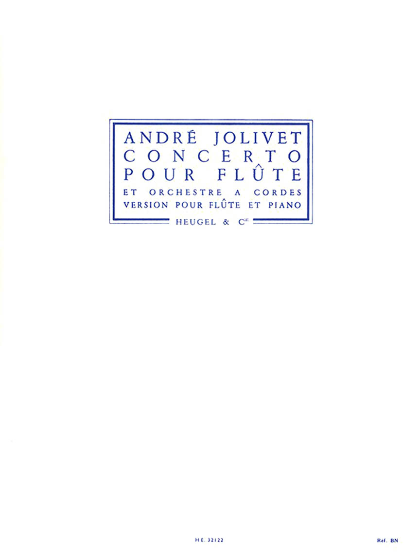 Product Cover for Andre Jolivet - Concerto Pour Flute Et Orchestre A Cordes (version Pour Flute Et Piano)