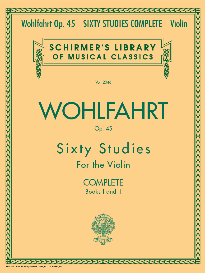 Product Cover for Franz Wohlfahrt – 60 Studies, Op. 45 Complete