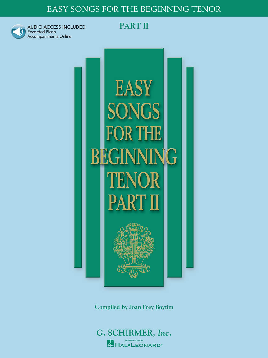 Product Cover for Easy Songs for the Beginning Tenor – Part II - Book/Online Audio
