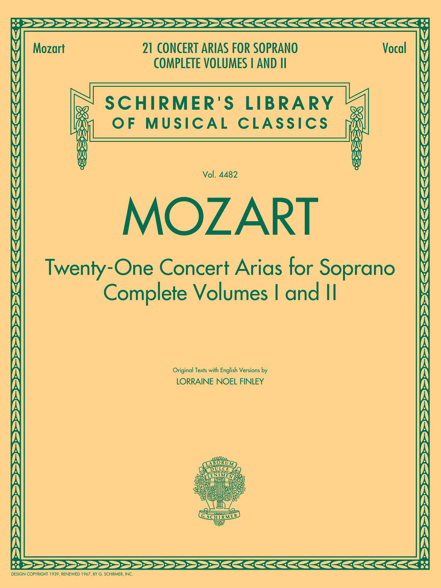 Product Cover for Mozart – 21 Concert Arias for Soprano