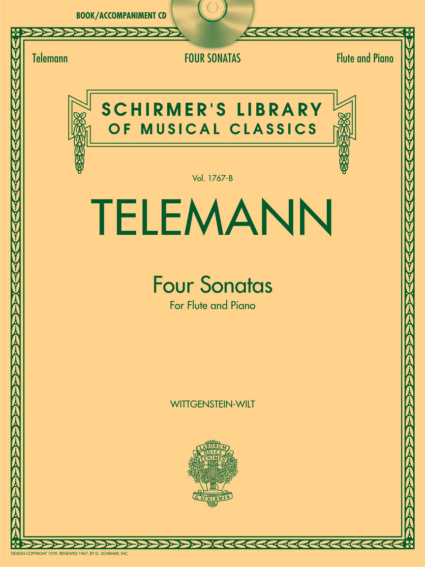 Product Cover for Telemann – 4 Sonatas for Flute and Piano