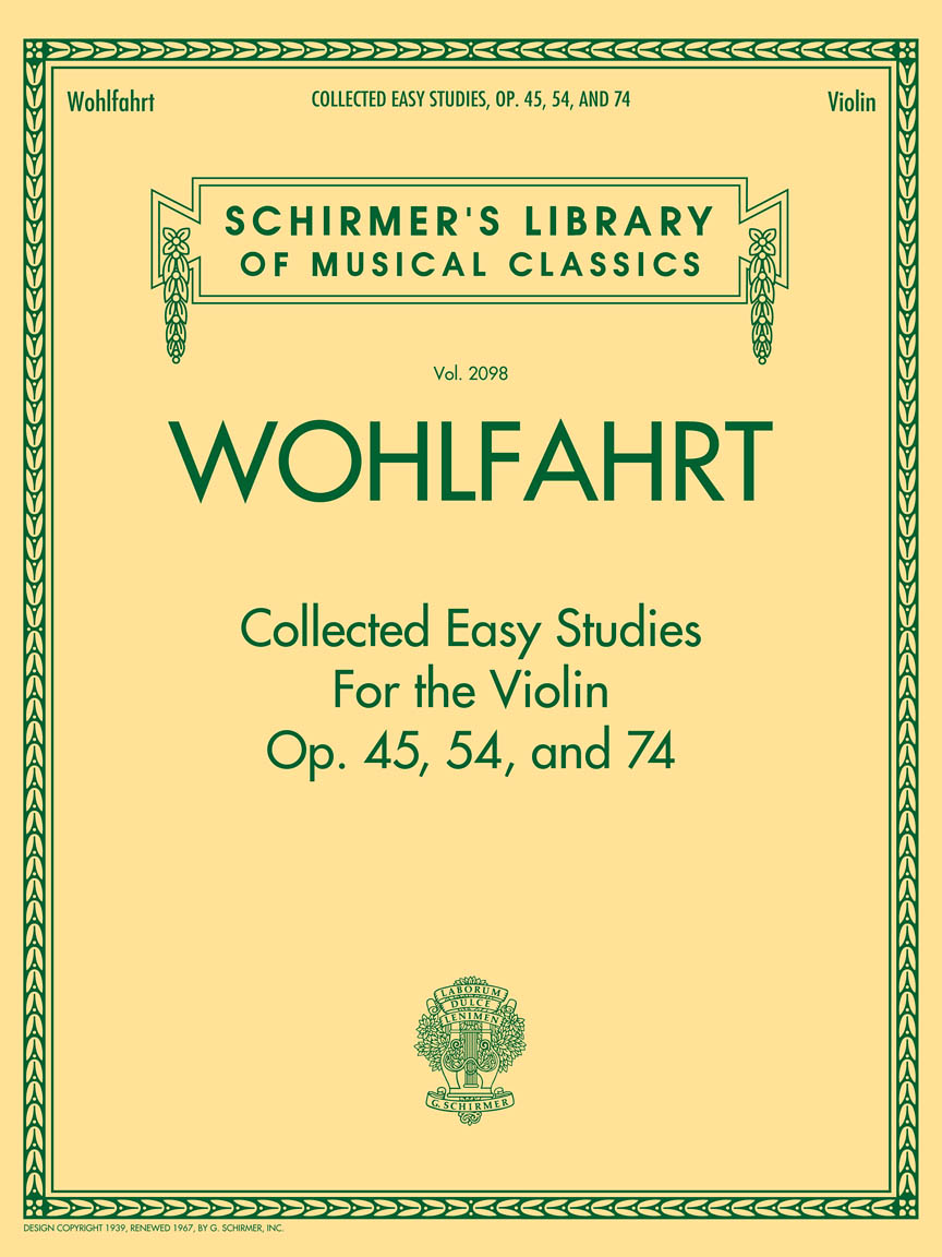 Product Cover for Wohlfahrt – Collected Easy Studies for the Violin