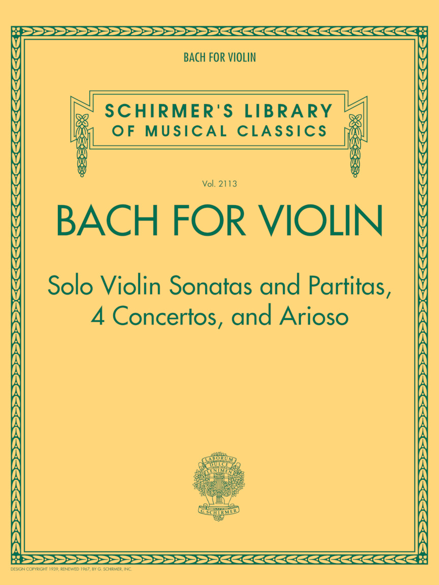 Product Cover for Bach for Violin – Sonatas and Partitas, 4 Concertos, and Arioso