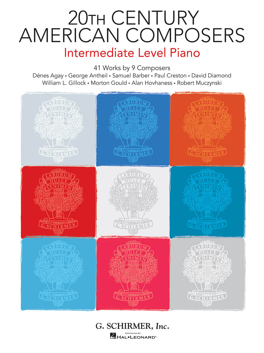 Product Cover for 20th Century American Composers – Intermediate Level Piano