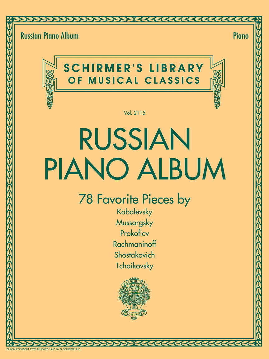 Product Cover for Russian Piano Album