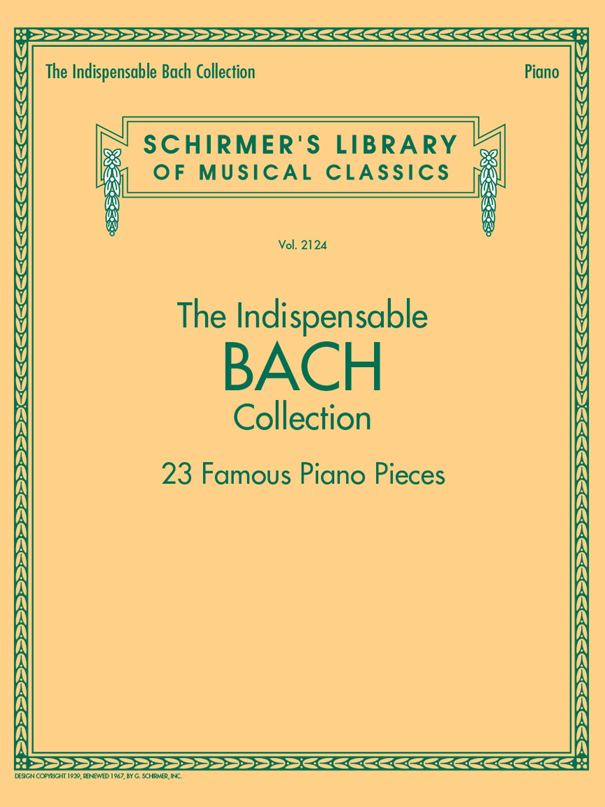 Product Cover for The Indispensable Bach Collection – 23 Famous Piano Pieces