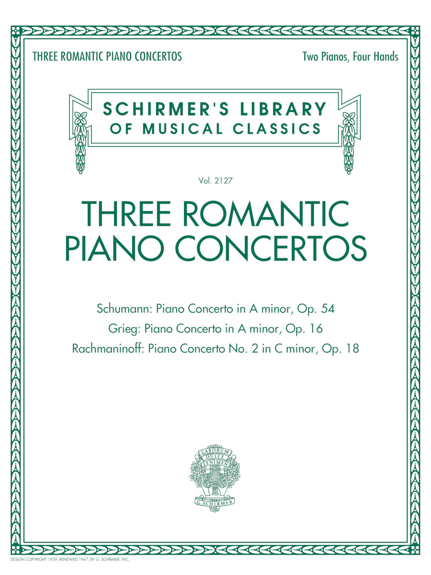 Product Cover for Three Romantic Piano Concertos: Schumann, Grieg, Rachmaninoff