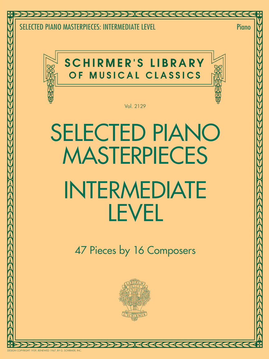 Product Cover for Selected Piano Masterpieces – Intermediate Level