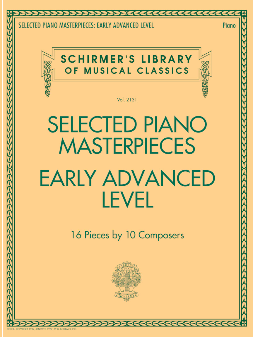 Product Cover for Selected Piano Masterpieces - Early Advanced Schirmer's Library Of Musical Classics