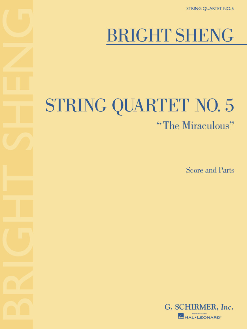 """Product Cover for String Quartet No. 5 """"The Miraculous"""""""