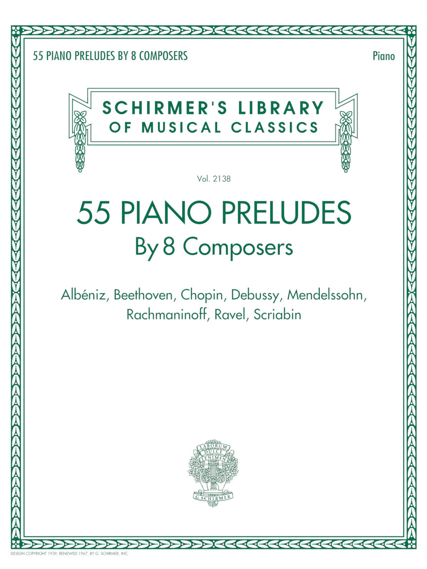 Product Cover for 55 Piano Preludes By 8 Composers Schirmer's Library of Musical Classics Volume 2138