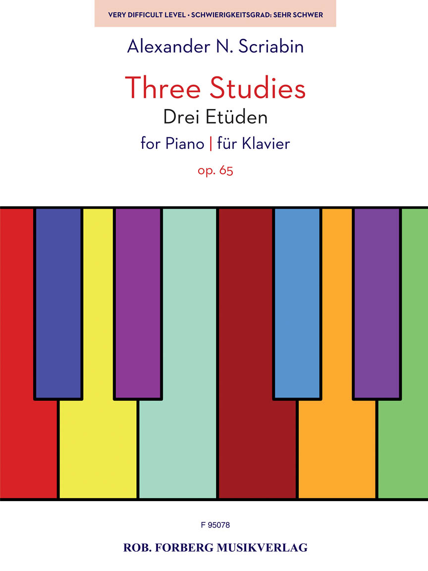 Product Cover for Three Studies for Piano, Op. 65