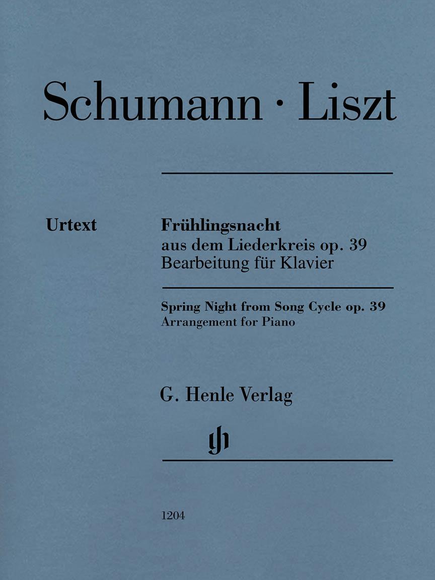 Product Cover for Frühlingsnacht (Spring Night) from Liederkreis, Op. 39